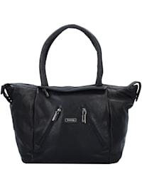 Black Nappa Shopper Tasche Leder 33 cm