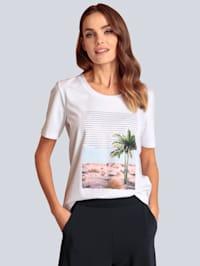 T-Shirt mit schönem Palmendruck