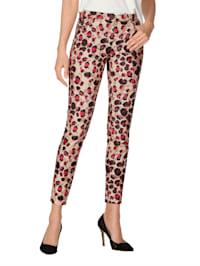 Leopardikuosiset housut
