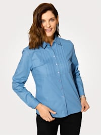 Blouse with button cuffed sleeves