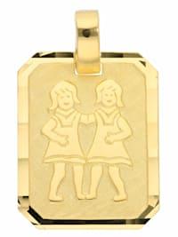 1001 Diamonds Damen & Herren Goldschmuck 333 Gold Sternzeichen Anhänger Zwilling