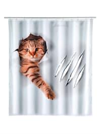 "Rideau de douche ""Cute Cat"""