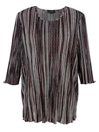 Plisované tričko s celoplošným vzorem