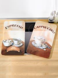 Set van 2 afdekplatenEspresso/Cappuccino