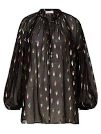 Bluse mit funkelnden Details