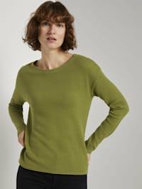 Strukturierter Pullover