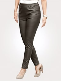 Kalhoty z imitace kůže s dělícími švy