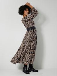 Tkané šaty s kvetinovým vzorom