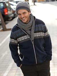 Veste polaire avec empiècement tricoté