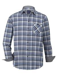 Flanellskjorte i ren bomull