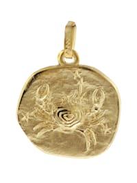 Sternzeichen-Anhänger Krebs 333 Gold 16 mm