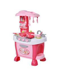 Kinderspielküche mit 38-teiligem Zubehörset