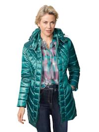 Gewatteerde jas met afritsbare capuchon