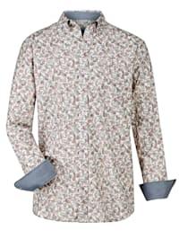 Chemise à motif cachemire mode