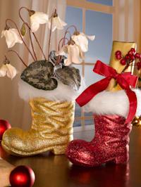 2er Set Weihnachtlicher Dekorationsstiefel