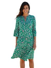 Šaty s celoplošným grafickým vzorom