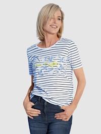 T-shirt à rayures tendance