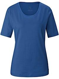 T-Shirt aus unifarbenem Jersey