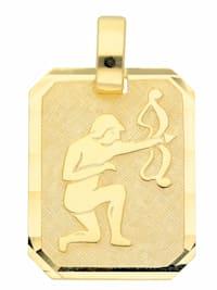 Damen & Herren Goldschmuck 333 Gold Sternzeichen Anhänger Schütze