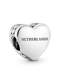 Charm -Herz- Schriftzug Netherlands und Tulpe - 792015 E041