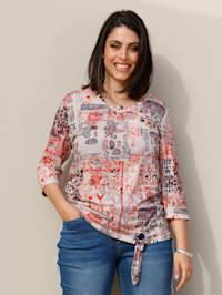Shirt im Ethno-Look