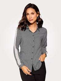 Bluse mit grafischem Minimal-Dessin