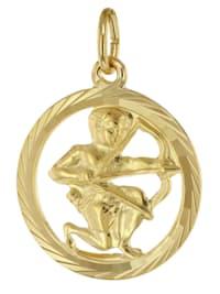 Sternzeichen Schütze 333 Gold Anhänger Ø 16 mm