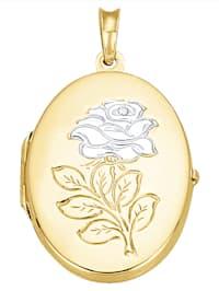 Kukka-aiheinen medaljonkiriipus