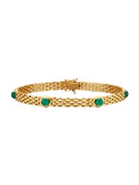 Bracelet avec émeraudes