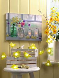 Ledwanddecoratie Bloemen