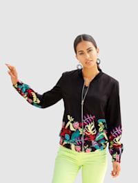 Bluzón s kvetinovou potlačou