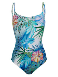 Badeanzug mit floralem Druck
