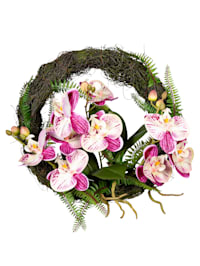 Couronne d'orchidées, rose