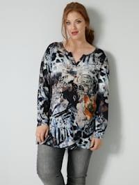 Shirt mit Foliendruck
