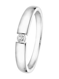 Brillant-Ring 0,10 ct Weißgold 585 für Antrag oder Verlobung