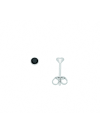 Damen Silberschmuck 925 Silber Ohrringe / Ohrstecker mit Zirkonia Ø 3,5 mm