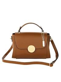 Handbag with a decorative clasp