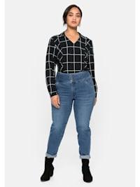 Jeans mit High-Waist-Bund