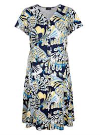 Šaty s dekorativní knoflíkovou légou