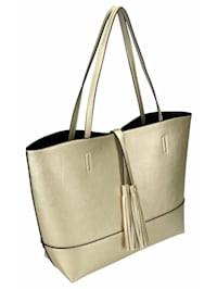 Handtasche Doro dekorative, lange Quaste, matt gold