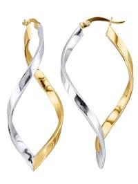 Créoles or jaune et or blanc 375