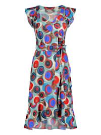 Sommerliches Kleid NAVILLA mit Volants und Allover-Muster