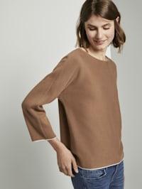 Basic Pullover mit Fledermausärmeln