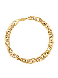 Bracelet en maille jaseront double en or jaune 585