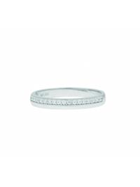 Damen Goldschmuck 333 Weißgold Ring mit Zirkonia