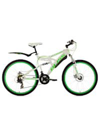 Fully Mountainbike Bliss 26 Zoll weiß-grün