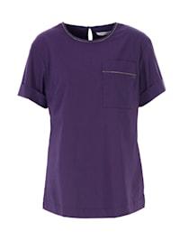 3/4-Arm-Shirt Bluse Glitzereffekt