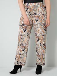 Jersey broek met print rondom