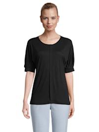 Halbarm-Shirt mit überschnittenen Ärmeln