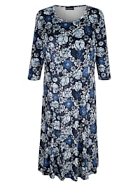 Sametové šaty s květinovým vzorem